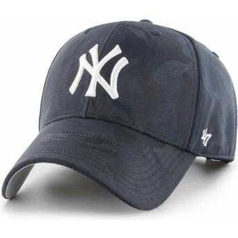 Boné curvo camuflagem azul marinho da New York Yankees MLB Clean Up Jigsaw da 47 Brand