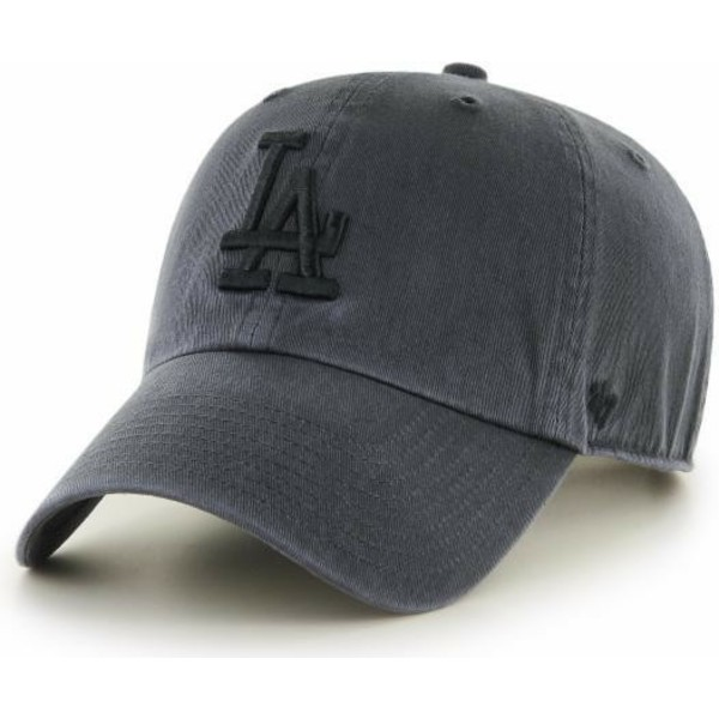 ... Angeles Dodgers MLB Clean Up da 47 Brand. bone-curvo-preto-com-logo -preto-da-los- 50642b8d2a5