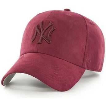 Boné curvo grená com logo grená da New York Yankees MLB Clean Up Ultra Basic da 47 Brand