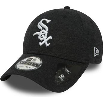 Boné curvo preto ajustável 9FORTY The League Winterised da Chicago White Sox MLB da New Era