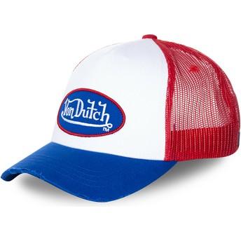 Boné trucker branco, vermelho e azul TRUCK16 da Von Dutch