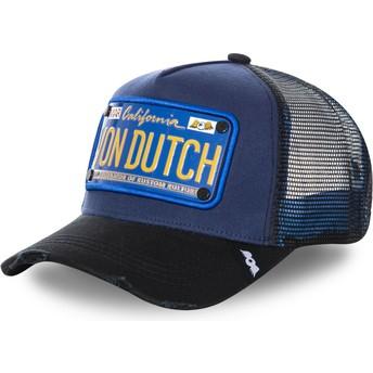 Boné trucker azul marinho com placa TRUCK15 da Von Dutch