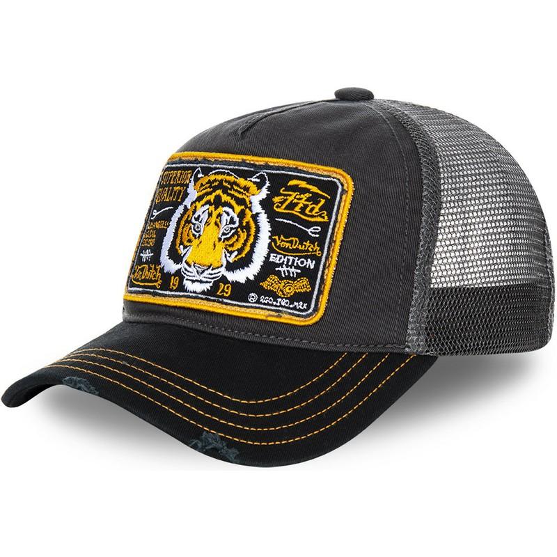 Boné trucker cinza tigre TRUCK13 da Von Dutch  comprar online en ... c1cb520a2dd