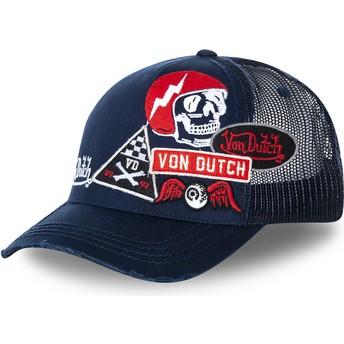 Boné trucker azul marinho MURPH3 da Von Dutch