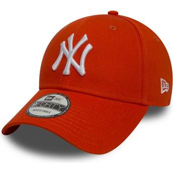 Boné curvo laranja ajustável 9FORTY Essential da New York Yankees MLB da New Era
