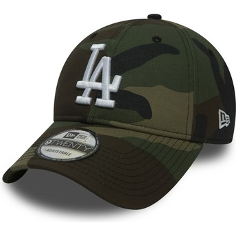 Boné curvo camuflagem ajustável 9TWENTY Essential Packable da Los Angeles Dodgers MLB da New Era