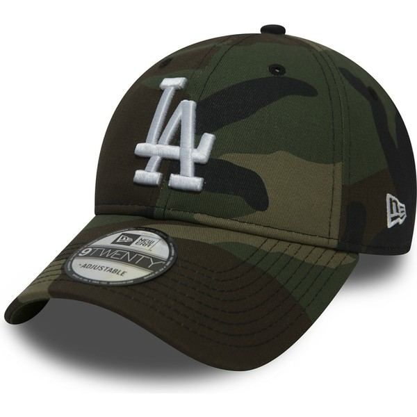 bone-curvo-camuflagem-ajustavel-9twenty-essential-packable-da-los-angeles-dodgers-mlb-da-new-era