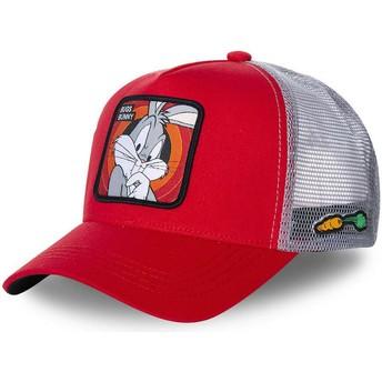 Boné trucker vermelho Bugs Bunny BUG1 Looney Tunes da Capslab