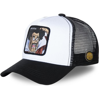 Boné trucker branco e preto Mr. Satan SAT1 Dragon Ball da Capslab