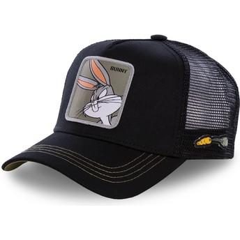 Boné trucker preto Bugs Bunny BUN1 Looney Tunes da Capslab
