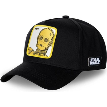 Boné curvo preto snapback C-3PO C3P3 Star Wars da Capslab