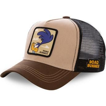 Boné trucker castanho Bip Bip ROA2 Looney Tunes da Capslab