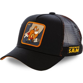 Boné trucker preto Yosemite Sam SAM1 Looney Tunes da Capslab