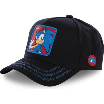 Boné curvo preto snapback Sonic SO1B Sonic the Hedgehog da Capslab