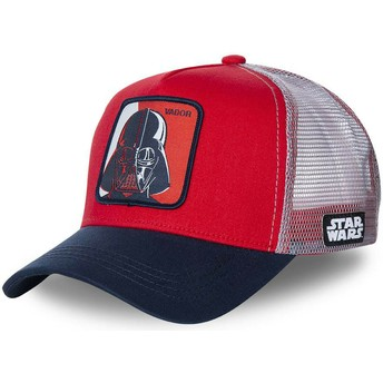 Boné trucker vermelho, branco e azul marinho Darth Vader VAD1 Star Wars da Capslab