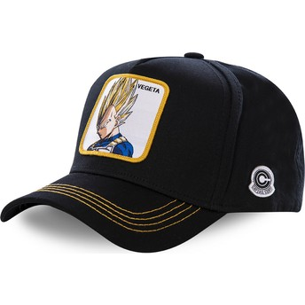 Boné curvo preto snapback Vegeta Super Saiyan VE2 Dragon Ball da Capslab