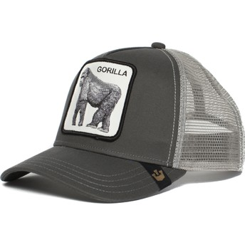 Boné trucker cinza gorila King of the Jungle da Goorin Bros.