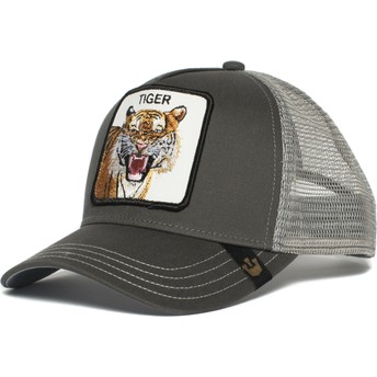 Boné trucker cinza tigre Eye of the Tiger da Goorin Bros.