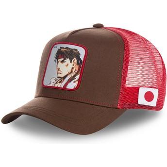 Boné trucker vermelho Ryu RYU Street Fighter da Capslab