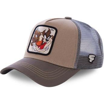 Boné trucker castanho Demónio da Tasmânia TAZ3 Looney Tunes da Capslab