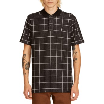 Polo manga curta preto aos quadrados Wowzer Plaid Black da Volcom