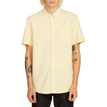 Camisa manga curta amarela Everett Oxford Lime da Volcom