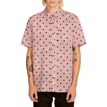 Camisa manga curta rosa Crossed Up Light Mauve da Volcom