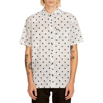 Camisa manga curta branca Crossed Up White da Volcom