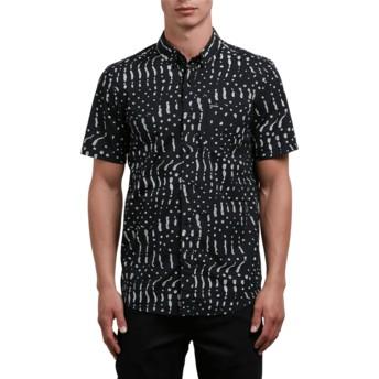 Camisa manga curta preta Drag Dot Black da Volcom