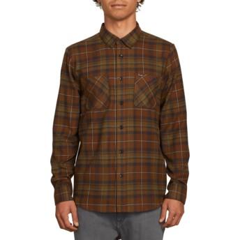 Camisa manga comprida verde aos quadrados Lumberg Flannel Vineyard Green da Volcom