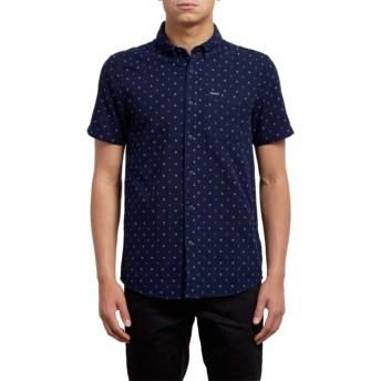 Camisa manga curta azul marinho Earl Indigo da Volcom