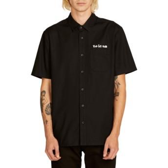 Camisa manga curta preta Crowd Control Black da Volcom