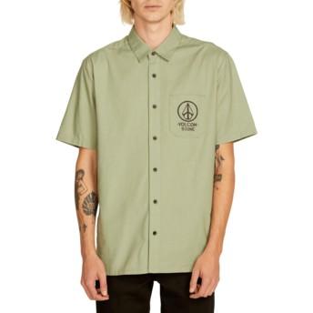 Camisa manga curta verde Crowd Control Dusty Green da Volcom