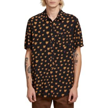 Camisa manga curta preta Ozzie Cat Black da Volcom