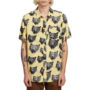 Camisa manga curta amarela Ozzie Cat Lime da Volcom