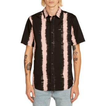 Camisa manga curta preta e rosa Fade This Light Mauve da Volcom