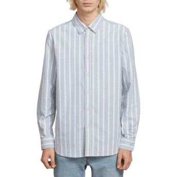Camisa manga comprida azul Vert Toner Wrecked Indigo da Volcom