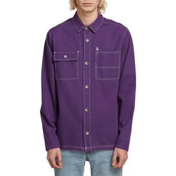 Camisa manga comprida violeta Fitzkrieg Dark Purple da Volcom