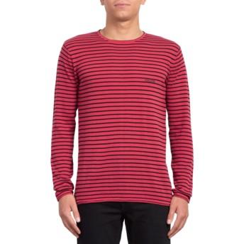 Sweatshirt vermelho Harweird Stripe II Burgundy da Volcom