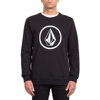 Sweatshirt preto Stone Black da Volcom