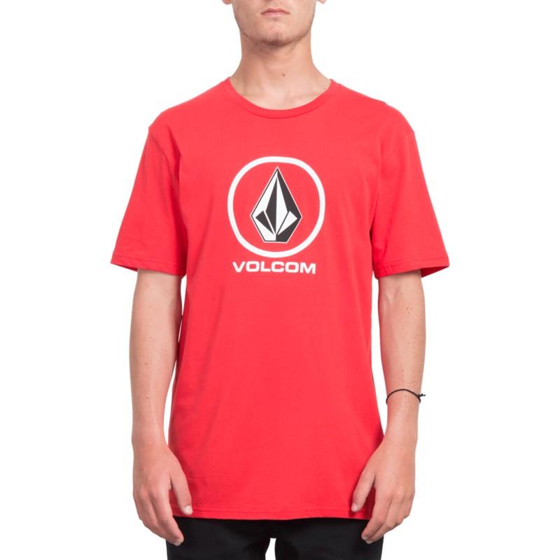 a5563c02b Camiseta manga curta vermelho Crisp Stone True Red da Volcom ...