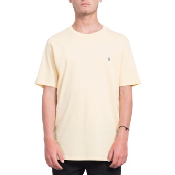 Camiseta manga curta laranja Stone Blank Light Peach da Volcom