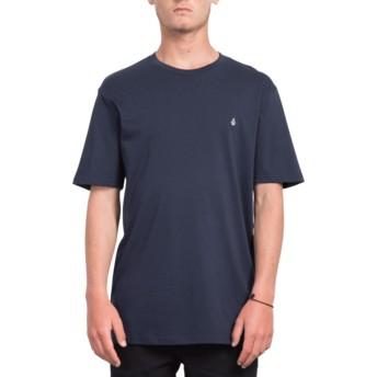 Camiseta manga curta azul marinho Stone Blank Navy da Volcom