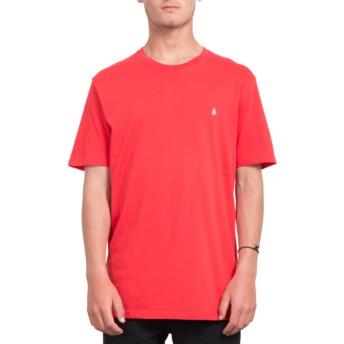 Camiseta manga curta vermelho Stone Blank True Red da Volcom