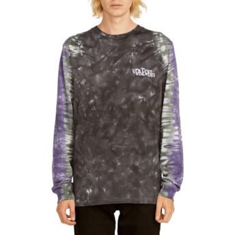 Camiseta manga comprida preto e violeta Computer Crash Black da Volcom