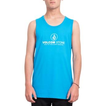Camiseta sem mangas azul Super Clean Cyan Blue da Volcom
