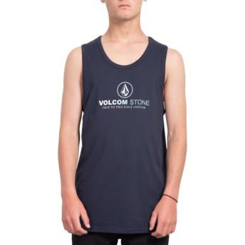Camiseta sem mangas azul marinho Super Clean Navy da Volcom