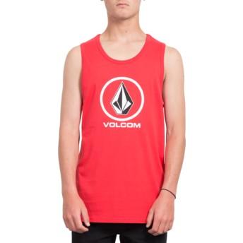 Camiseta sem mangas vermelho Crisp Stone True Red da Volcom