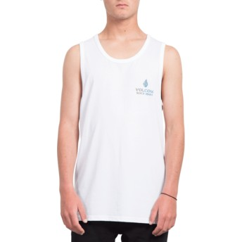 Camiseta sem mangas branco Peace Is Progess White da Volcom