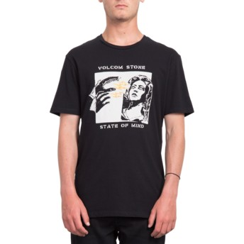 Camiseta manga curta preto State Of Mind Black da Volcom